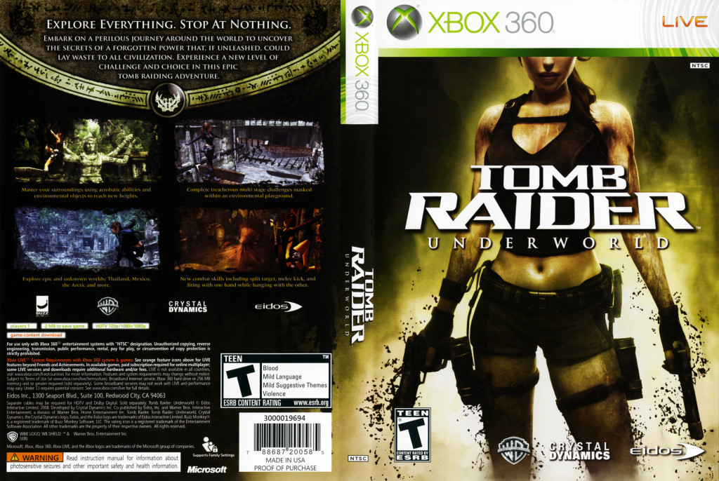 Tomb Raider Underworld Cover