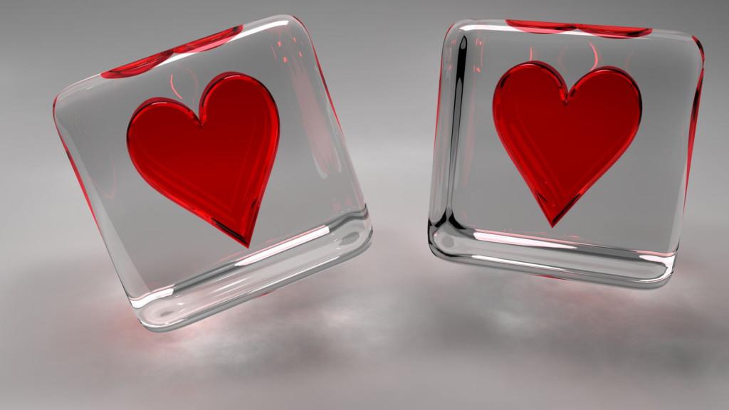 Two Lovie Heart Wallpaper