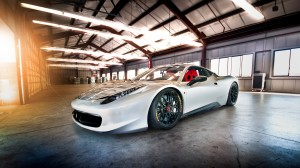 White Ferrari 430 Scuderia Wallpaper