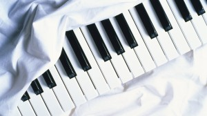 White Piano Wallpaper