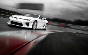 2011 Lexus LFA Rain Race Wallpaper