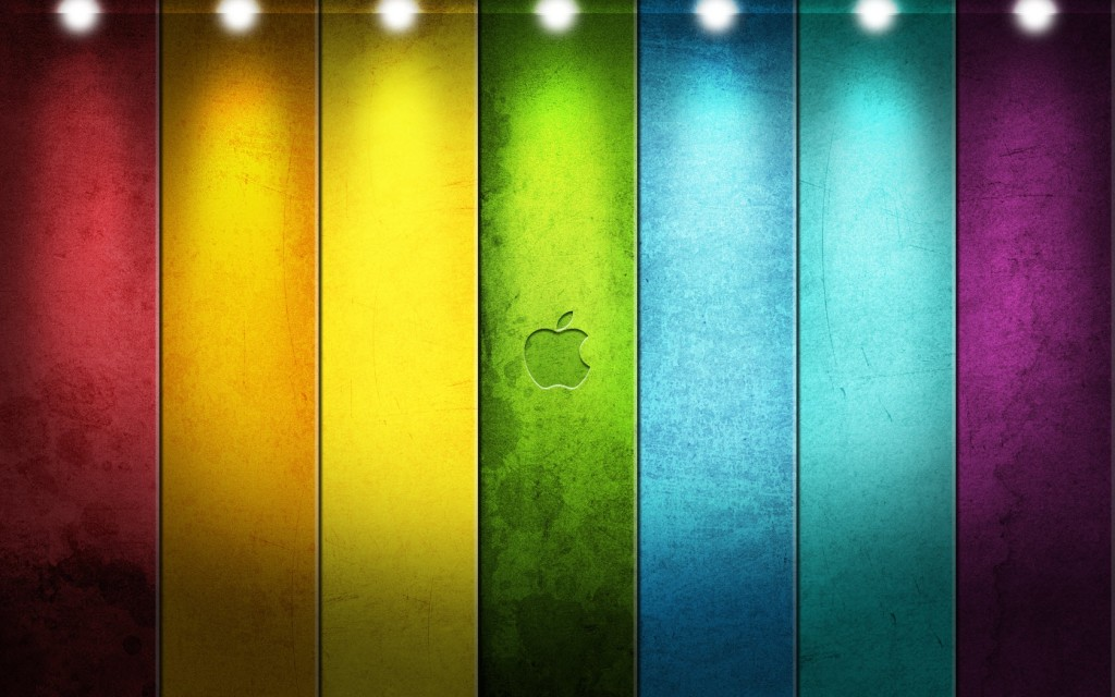 Apple Rainbow Wallpaper