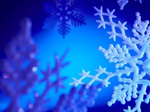 Blue Snowflake Wallpaper