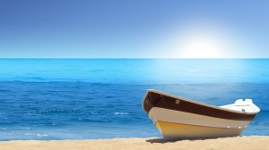 Boat Sea Beach Wallpaper