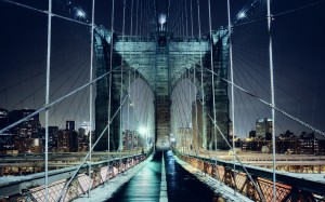 Brooklyn Bridge Walkway Wallpaper