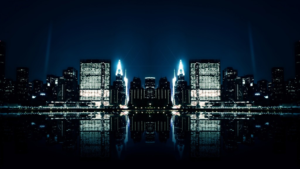 City Night Reflections Wallpaper HD