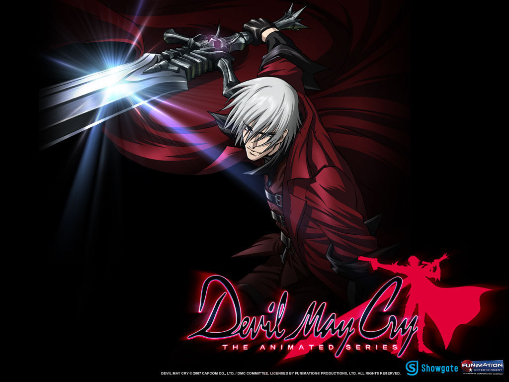 Dante Attacking devil may cry anime wallpaper