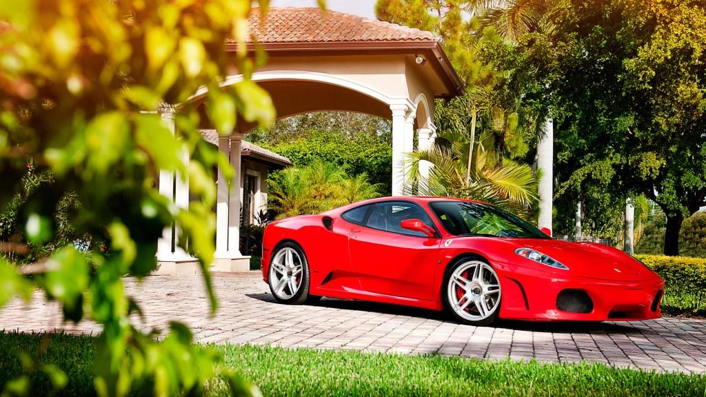 Ferrari F430 ADV1 Wheels Wallpaper