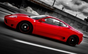 Ferrari on Forged CF 5 Wheels