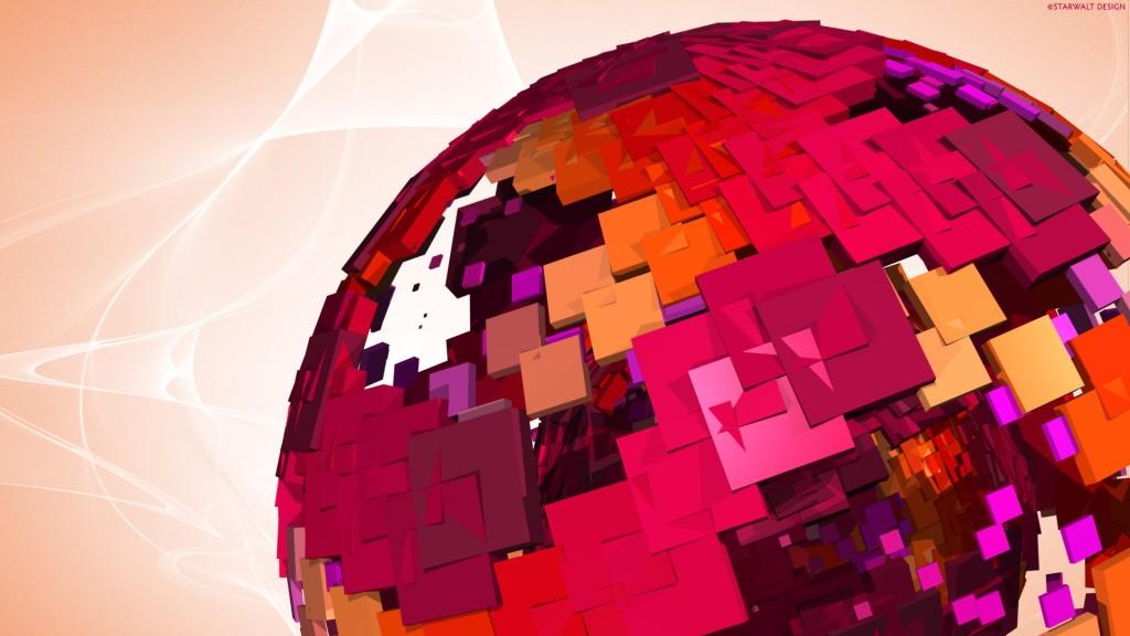 Globe Pink Vector Wallpaper