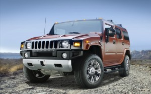 Hummer H2 Sedona Metallic Black Chrome