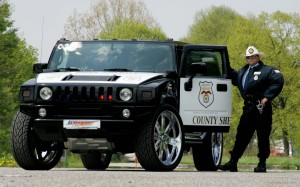 Hummer Police Car Wallpaper