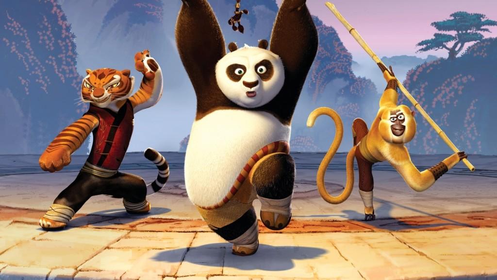 Kung Fu Tigress Panda Monkey Wallpaper