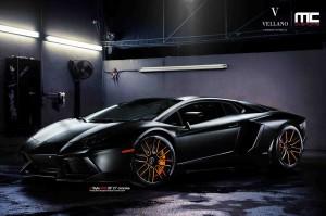Lamborghini Aventador Black Vellano