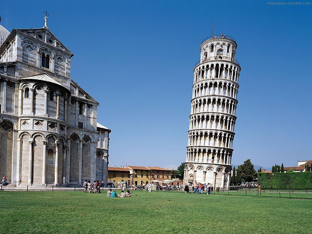 Leaning Tower Pisa Italy Wallpaper