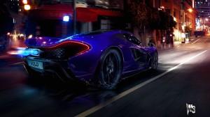 McLaren P1 in Blue Wallpaper