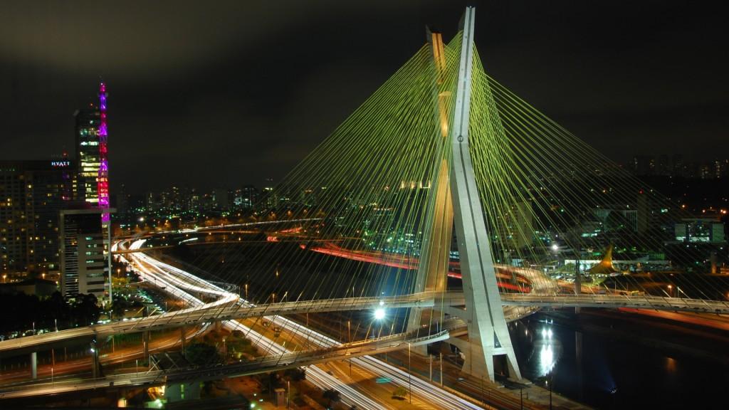 Octavio Frias de Oliveira Bridge Wallpaper