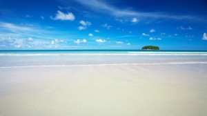 Sky Blue Beach Wallpaper