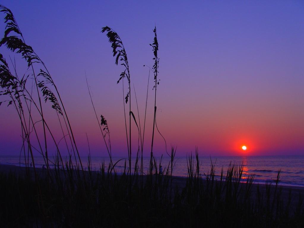 Sunrise at Beach California Wallpaper
