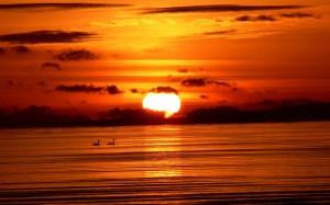 Sunrise on Sea Wallpaper