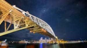 Sydney Bridge Nights Wallpaper