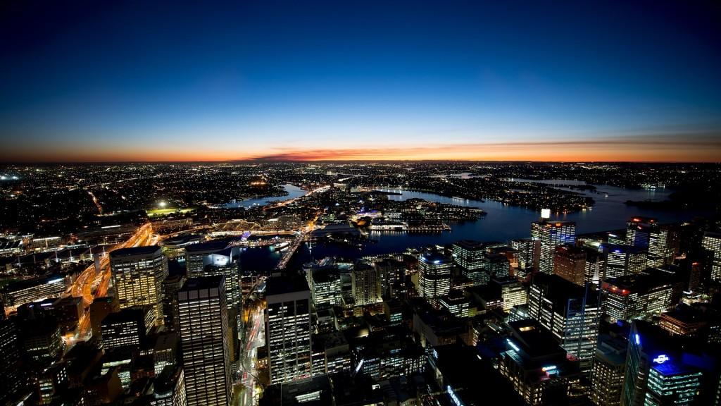 Sydney Night Lights Wallpaper HD