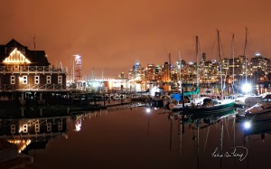 Vancouver Coal Harbour Nights Wallpaper