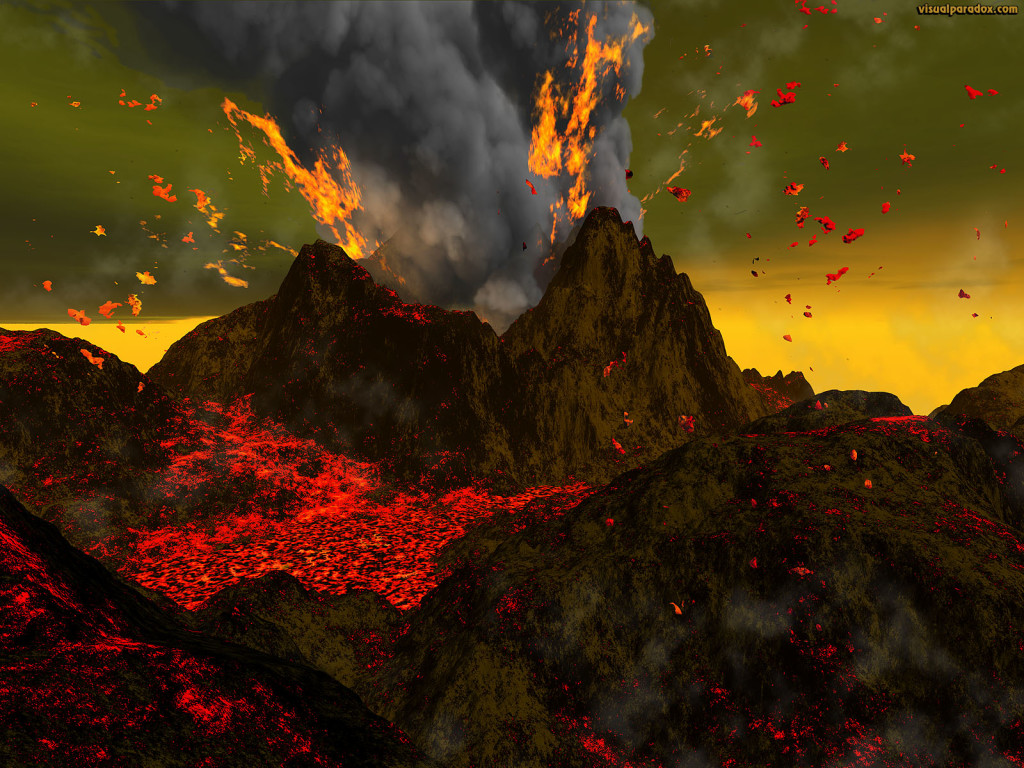Volcano Eruption Wallpaper