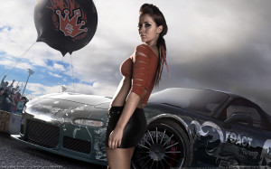 need for speed prostreet girl 2 Car wallpaper