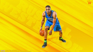 Russell Westbrook Thunder 2013 Wallpaper