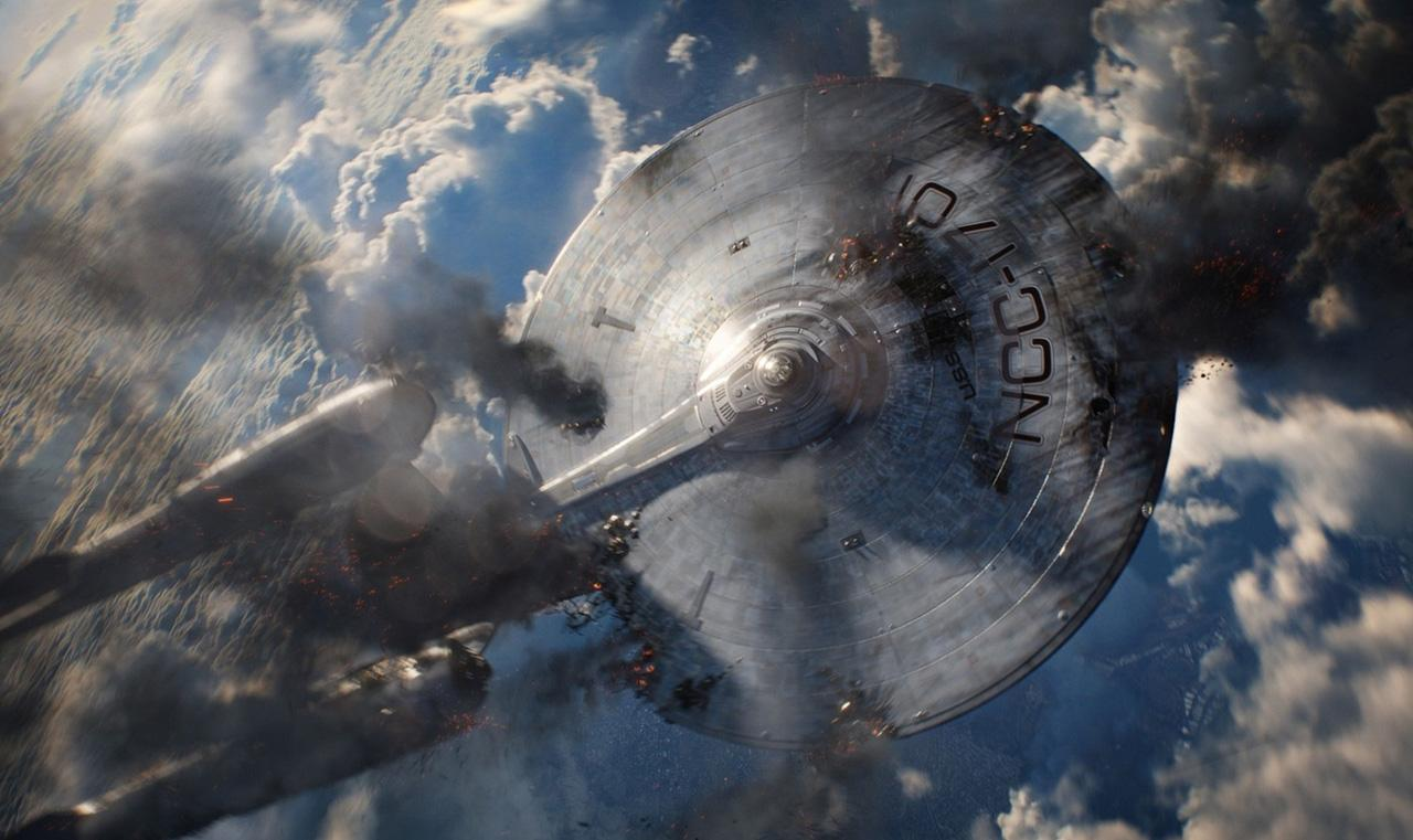 Enterprise on Fire Wallpaper HD
